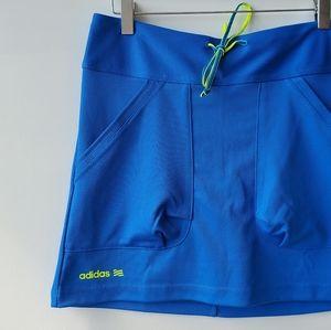 Adidas Neon Blue & Yellow Skort in Size XS